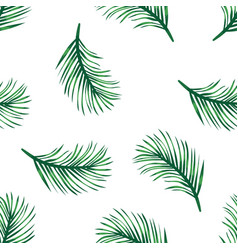 green branches of tropical palm tree on white vector image