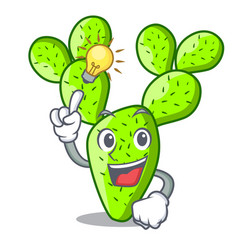 Have an idea cartoon the prickly pear opuntia vector