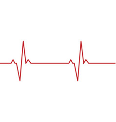 Heartbeat line background vector
