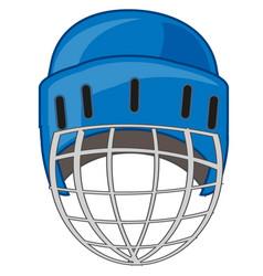 Helmet for hockey vector