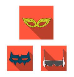hero and mask logo vector image