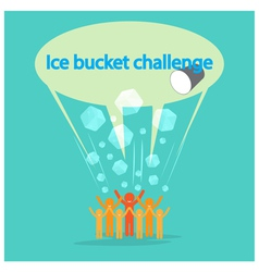 Ice Bucket Challenge concept vector