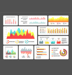 infographics schemes information in visual form vector image