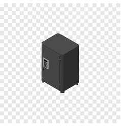 Isolated safe isometric strongbox element vector