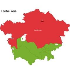 Kazakhstan map vector image
