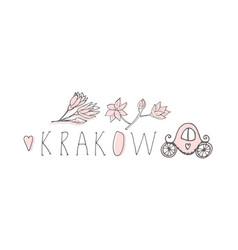 Krakow hand drawn vector