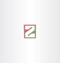 letter z logo logotype icon vector image