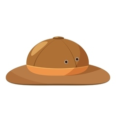 Men hiking hat icon cartoon style vector