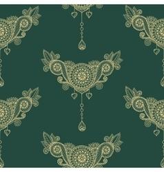 Ornamental seamless ethnic pattern floral design vector