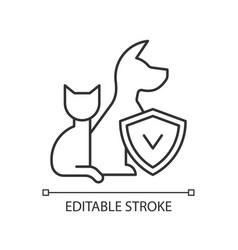 Pet insurance linear icon vector