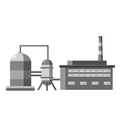 Plant with tanks for storage of liquid icon vector