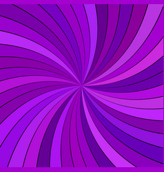 purple hypnotic abstract spiral ray burst stripe vector image