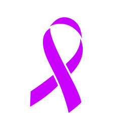 purple ribbon healthcare and medicine concept vector image