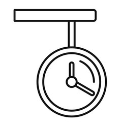 Railway station clock icon outline style vector