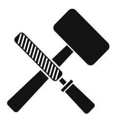 Reconstruction hammer tools icon simple style vector