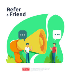 Refer a friend concept affiliate marketing vector
