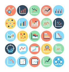 Reports and Analytics Colored Icons 6 vector