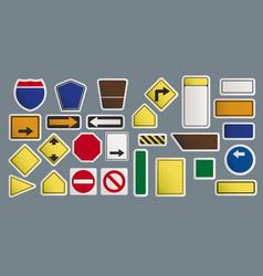 road warning sign art design vector image