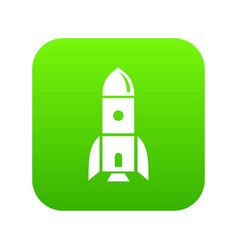 rocket astronomy icon green vector image