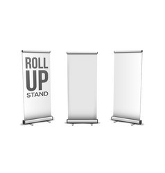 roll up stand collection in different view vector image