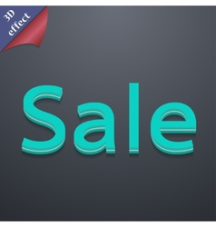 Sale tag icon symbol 3D style Trendy modern design vector image
