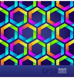 Seamless colorful hexagons vector