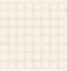 seamless pattern golden decorative design vector image