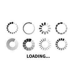 Set loading icon vector
