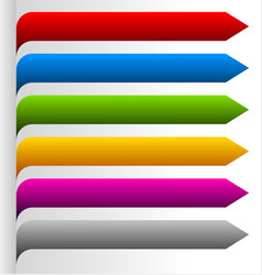 set of bright colorful oblong design elements vector image