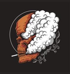 skull smoke vector image