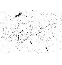 splashes of ink on isolated white background vector image