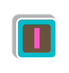 stylish icon in paper sticker style cube toy vector image vector image