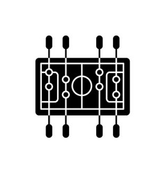 table soccer black glyph icon vector image