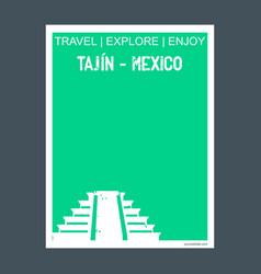 Tajin - mexico monument landmark brochure flat vector