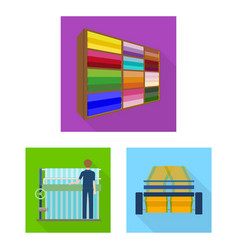 Textile industry flat icons in set collection for vector