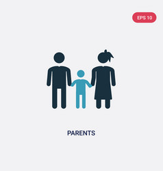 Two color parents icon from people concept vector