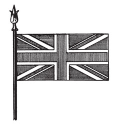 union national flag of great britain vintage vector image