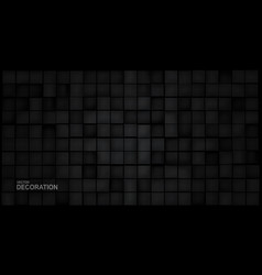 verctor abstract 3d black blocks on a black vector image