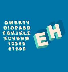 vintage type alphabet with 3d threedimentional vector image