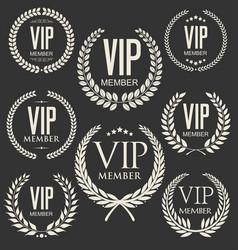 vip member laurel wreath collection 2 vector image