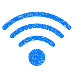 Wi-fi source grunge icon vector