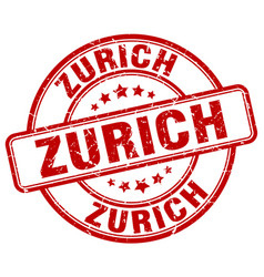 Zurich red grunge round vintage rubber stamp vector