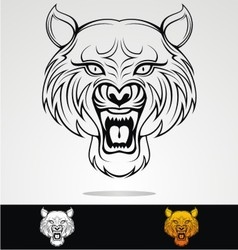 Angry Tiger Head Tribal vector image vector image