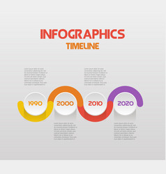 horizontal steps timeline infographics with text - vector image vector image