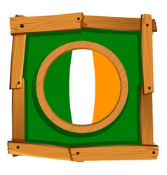 ireland flag on square frame vector image vector image