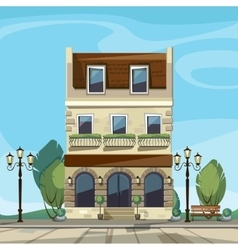 Old Europian Shop Boutique Museum Cafe vector image vector image