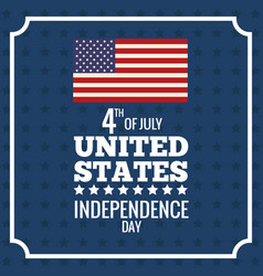 united states independence day patriotism event vector image