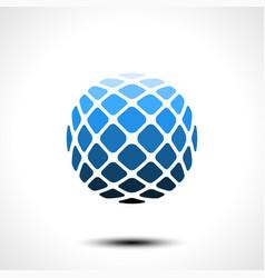 abstract globe design icon vector image
