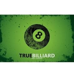 billiard Billiard logo design Billiard ball vector image vector image