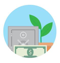 growth deposit in bank vector image vector image